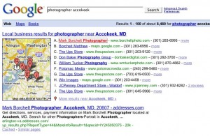 photographer gets number one listing on search